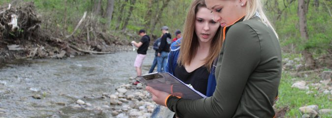 Ag PTECH students DNA test river, creek